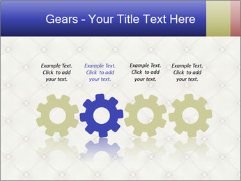 White Leather Textile PowerPoint Templates - Slide 48