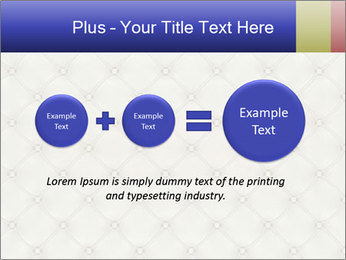 White Leather Textile PowerPoint Templates - Slide 75