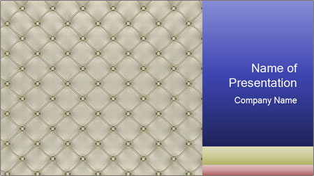 White Leather Textile PowerPoint Template