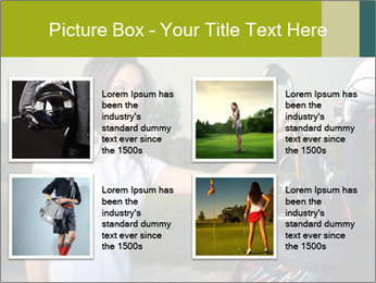 Young Golf Player PowerPoint Templates - Slide 14