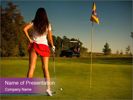 Sexy golf player powerpoint template backgrounds id 0000063500 sexy golf player powerpoint templates toneelgroepblik Image collections
