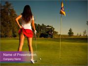 Sexy Golf Player PowerPoint Templates