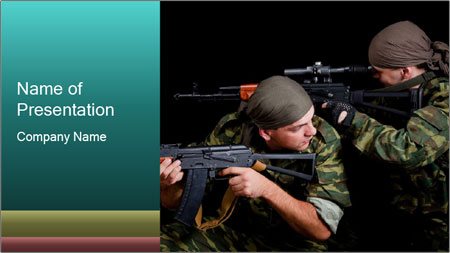 Soldiers at War PowerPoint Template