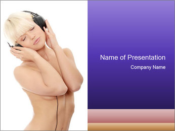Fun Girl PowerPoint Template - Slide 1