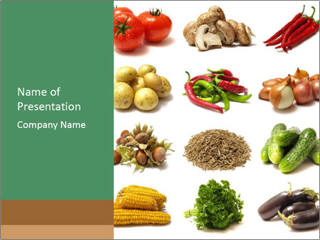 vegetarian food powerpoint template & backgrounds id 0000063506, Modern powerpoint