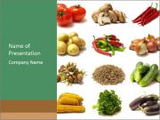 Vegetarian Food PowerPoint Templates