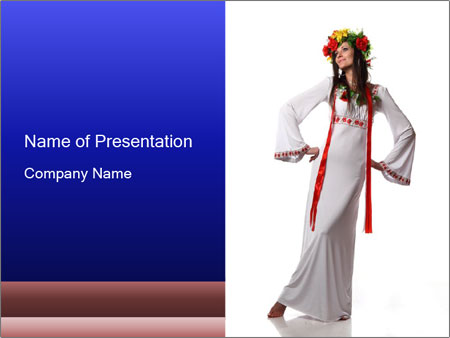 Folk Woman from Ukraine PowerPoint Template