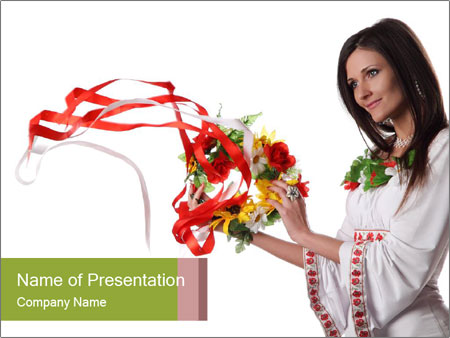 Ukraine Folk PowerPoint Template