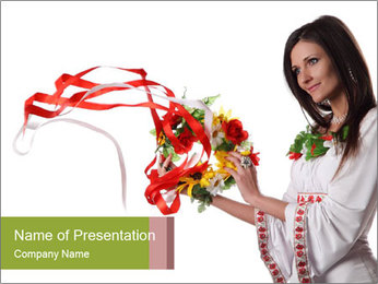 Ukraine Folk PowerPoint Template - Slide 1