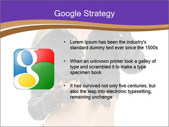 Blond Woman in Black PowerPoint Templates - Slide 10