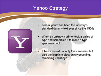 Blond Woman in Black PowerPoint Templates - Slide 11