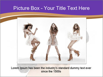 Blond Woman in Black PowerPoint Templates - Slide 15