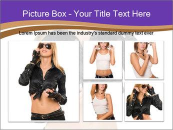 Blond Woman in Black PowerPoint Templates - Slide 19