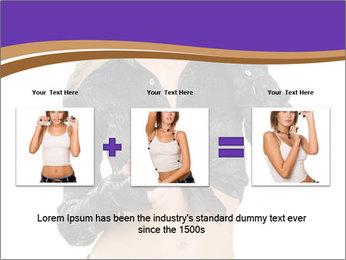 Blond Woman in Black PowerPoint Templates - Slide 22