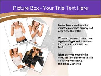 Blond Woman in Black PowerPoint Templates - Slide 23
