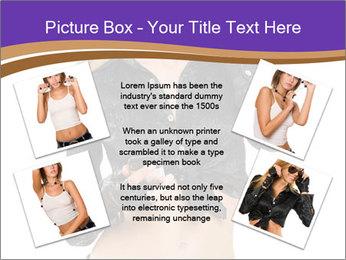 Blond Woman in Black PowerPoint Templates - Slide 24
