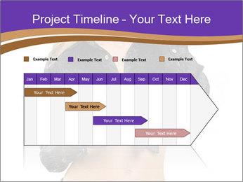 Blond Woman in Black PowerPoint Templates - Slide 25