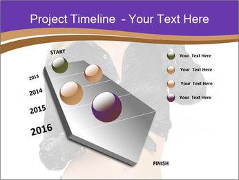 Blond Woman in Black PowerPoint Templates - Slide 26