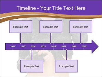 Blond Woman in Black PowerPoint Templates - Slide 28