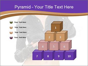 Blond Woman in Black PowerPoint Templates - Slide 31