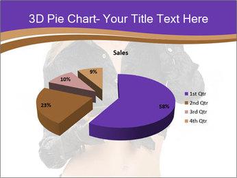 Blond Woman in Black PowerPoint Templates - Slide 35