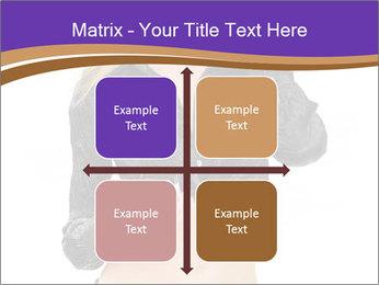 Blond Woman in Black PowerPoint Templates - Slide 37