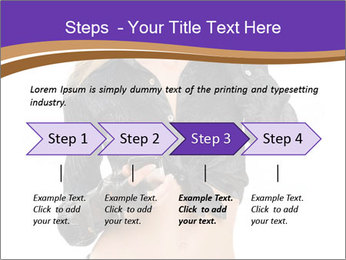 Blond Woman in Black PowerPoint Templates - Slide 4