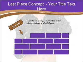 Blond Woman in Black PowerPoint Templates - Slide 46