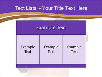 Blond Woman in Black PowerPoint Templates - Slide 59