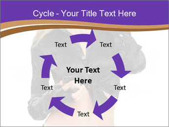 Blond Woman in Black PowerPoint Templates - Slide 62