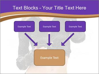 Blond Woman in Black PowerPoint Templates - Slide 70