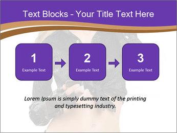 Blond Woman in Black PowerPoint Templates - Slide 71