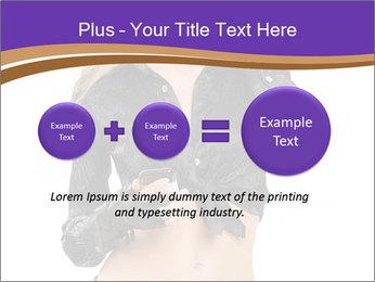 Blond Woman in Black PowerPoint Templates - Slide 75