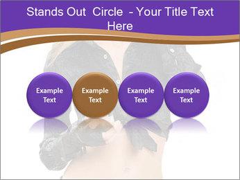 Blond Woman in Black PowerPoint Templates - Slide 76