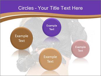 Blond Woman in Black PowerPoint Templates - Slide 77