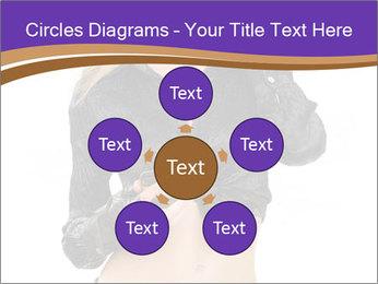 Blond Woman in Black PowerPoint Templates - Slide 78