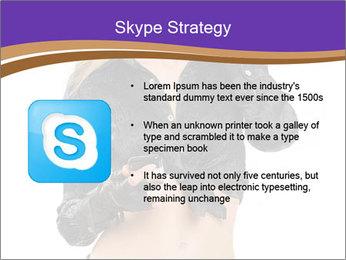 Blond Woman in Black PowerPoint Templates - Slide 8