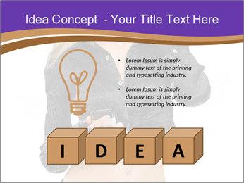 Blond Woman in Black PowerPoint Templates - Slide 80