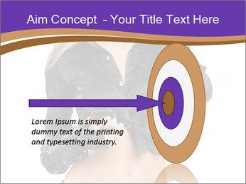 Blond Woman in Black PowerPoint Templates - Slide 83