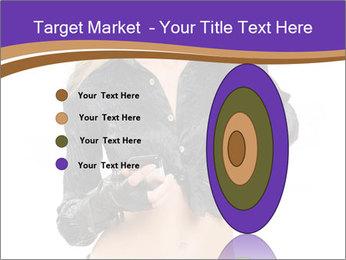 Blond Woman in Black PowerPoint Templates - Slide 84