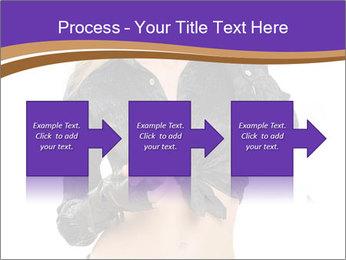 Blond Woman in Black PowerPoint Templates - Slide 88