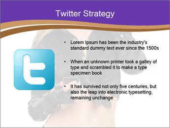 Blond Woman in Black PowerPoint Templates - Slide 9