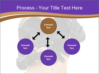 Blond Woman in Black PowerPoint Templates - Slide 91