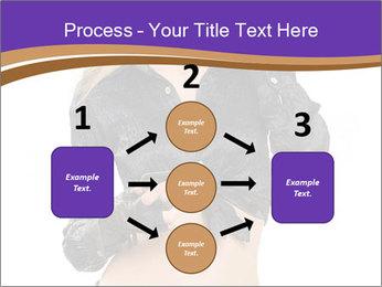 Blond Woman in Black PowerPoint Templates - Slide 92