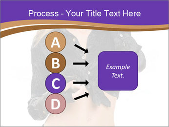 Blond Woman in Black PowerPoint Templates - Slide 94