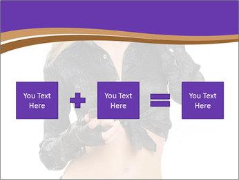 Blond Woman in Black PowerPoint Templates - Slide 95
