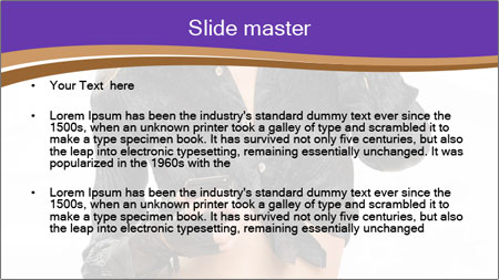 Blond Woman in Black PowerPoint Template - Slide 2