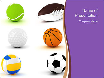 Types of Balls PowerPoint Template - Slide 1