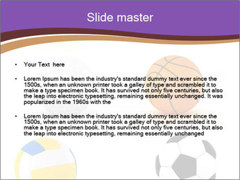 Types of Balls PowerPoint Template - Slide 2