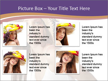 Fruits Over Female Hat PowerPoint Templates - Slide 14